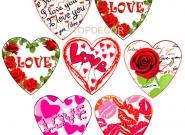 Ζαχαρωτές καρδιές (6,5*6,5εκ.) ΚΩΔ. 661