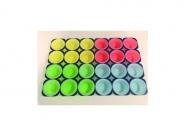Καρτέλα muffins πολύχρωμη